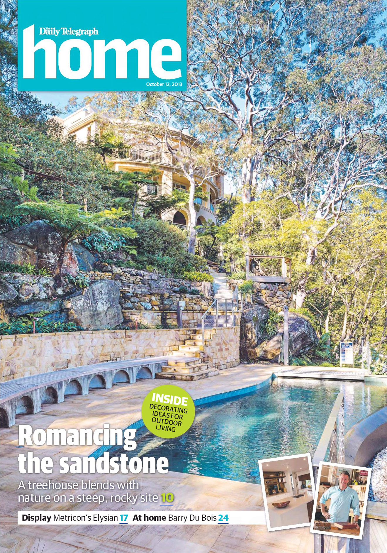 Daily Telegraph Home Magazine cover – Romancing the sandstone